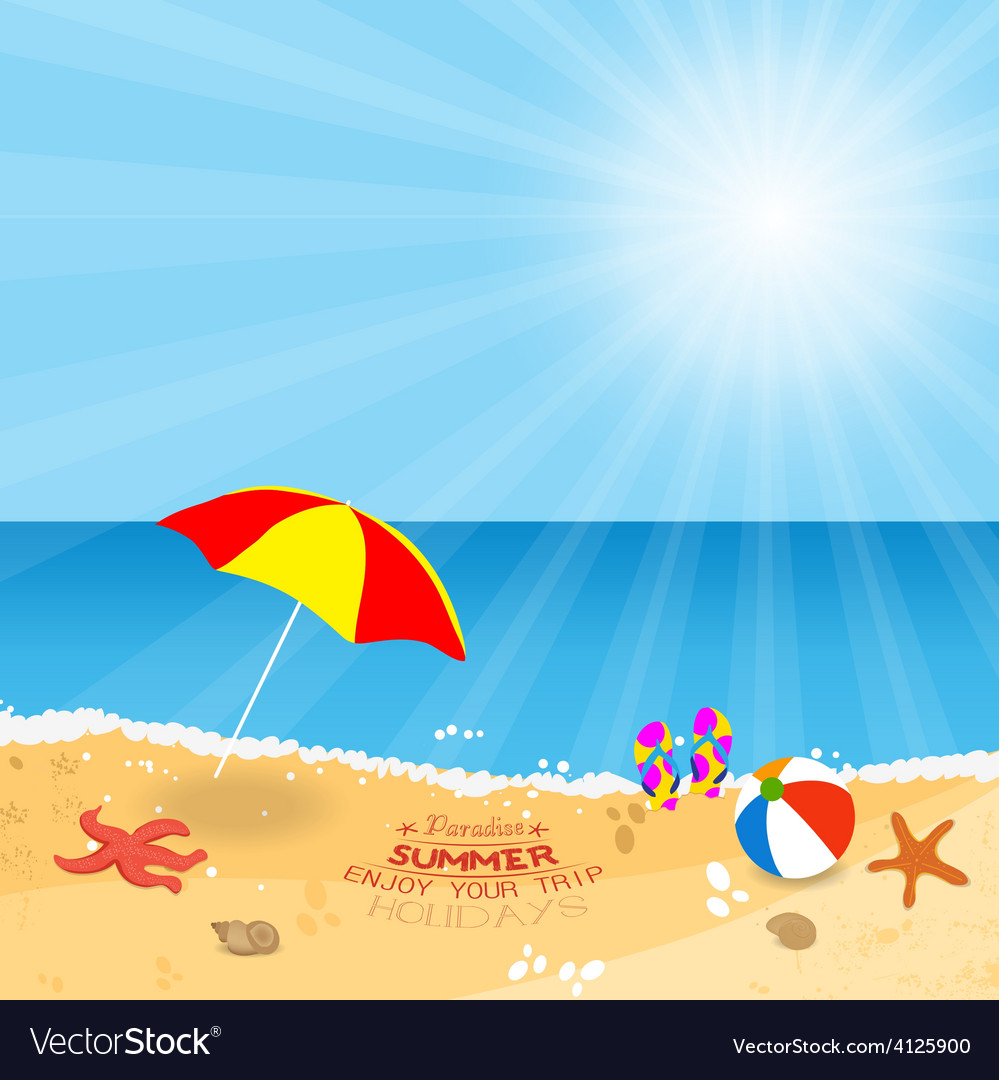 Paradise summer enjoy your trip holidays vector | Price: 1 Credit (USD $1)