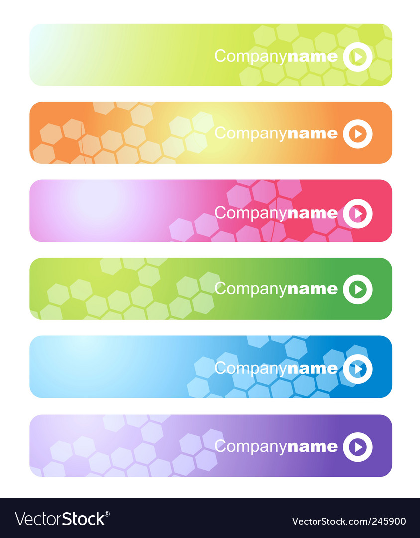 Set of web banners vector | Price: 1 Credit (USD $1)