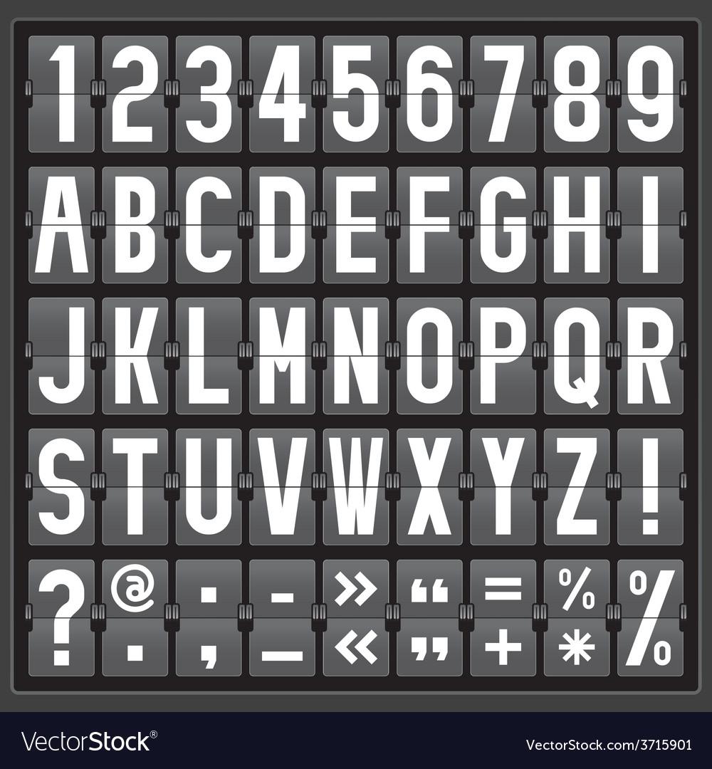 Alphabet of mechanical panel vector | Price: 1 Credit (USD $1)