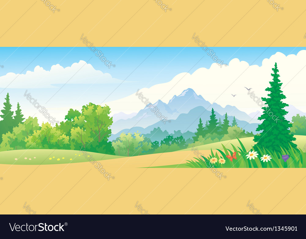 Forest banner vector | Price: 3 Credit (USD $3)