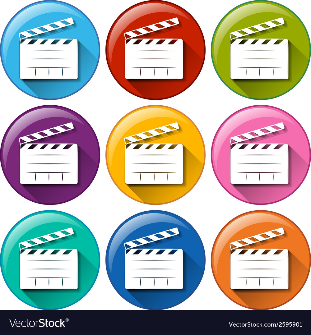 Movie icons vector | Price: 1 Credit (USD $1)