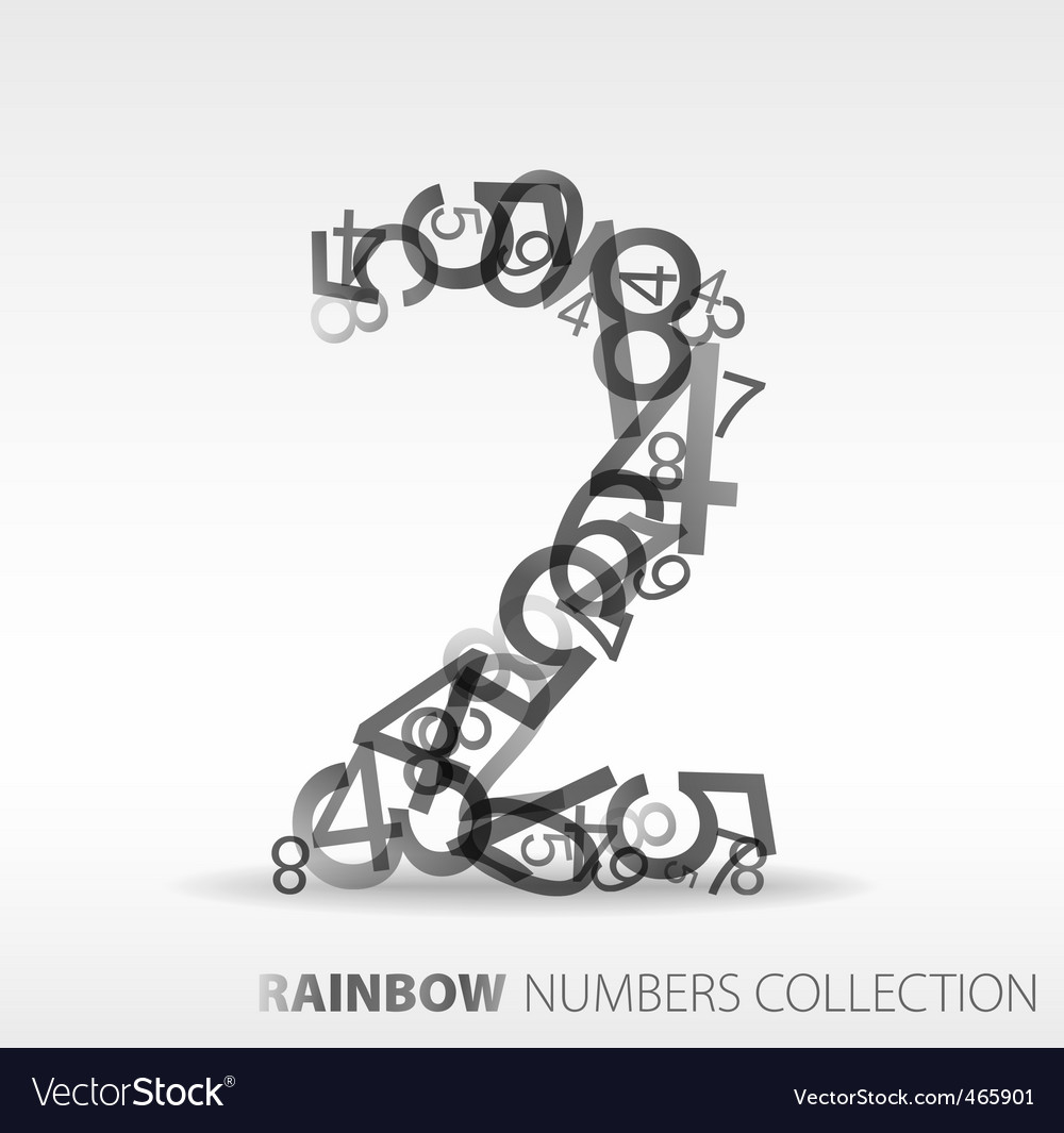 Number two design elements vector | Price: 1 Credit (USD $1)