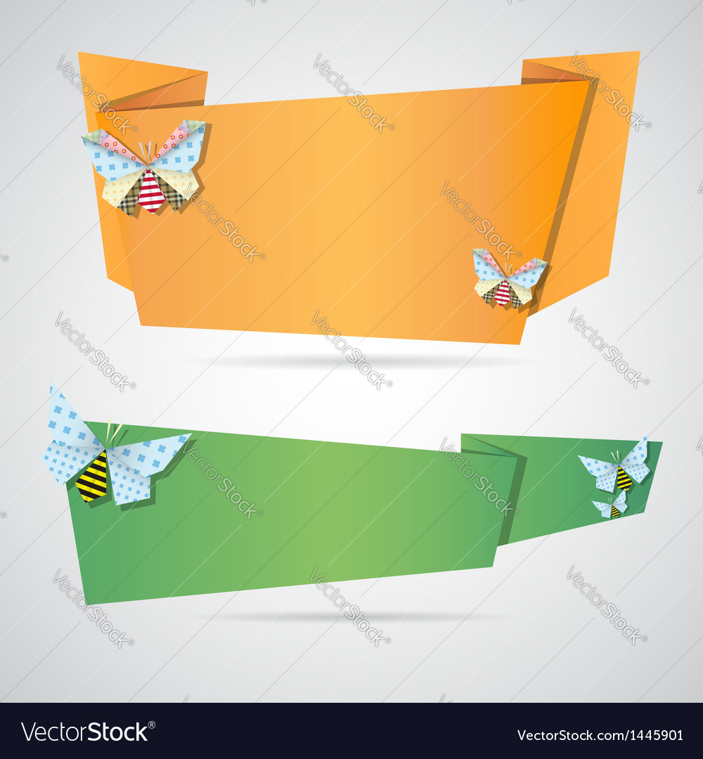 Origami notepaper folded note sheets vector | Price: 1 Credit (USD $1)
