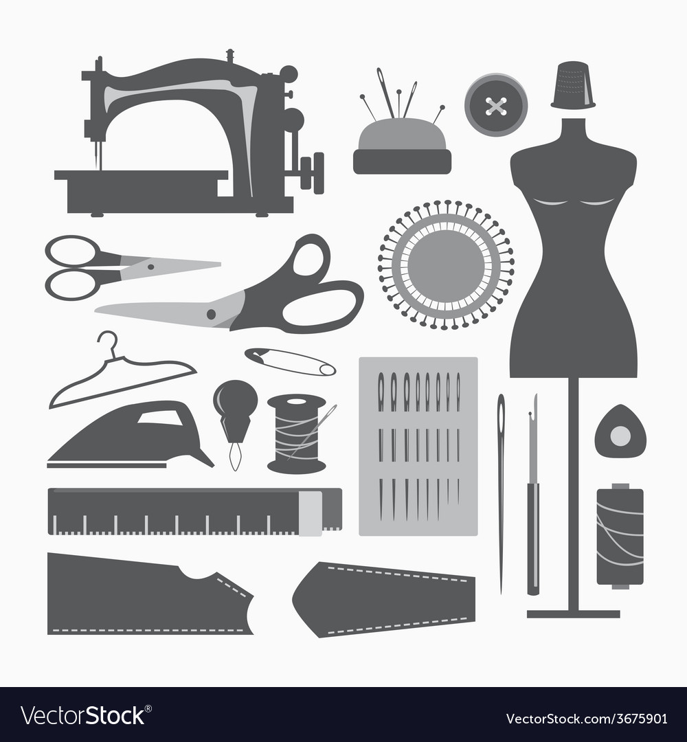 Sewing equipment and needlework vector | Price: 1 Credit (USD $1)