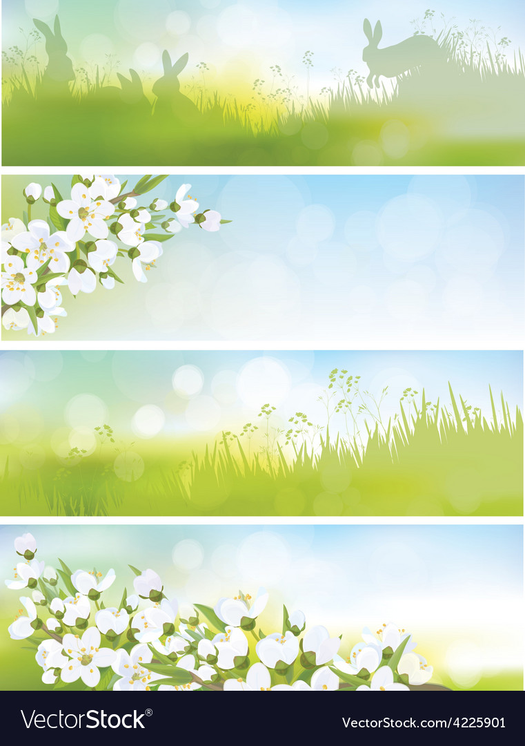 Spring banners nature vector | Price: 1 Credit (USD $1)