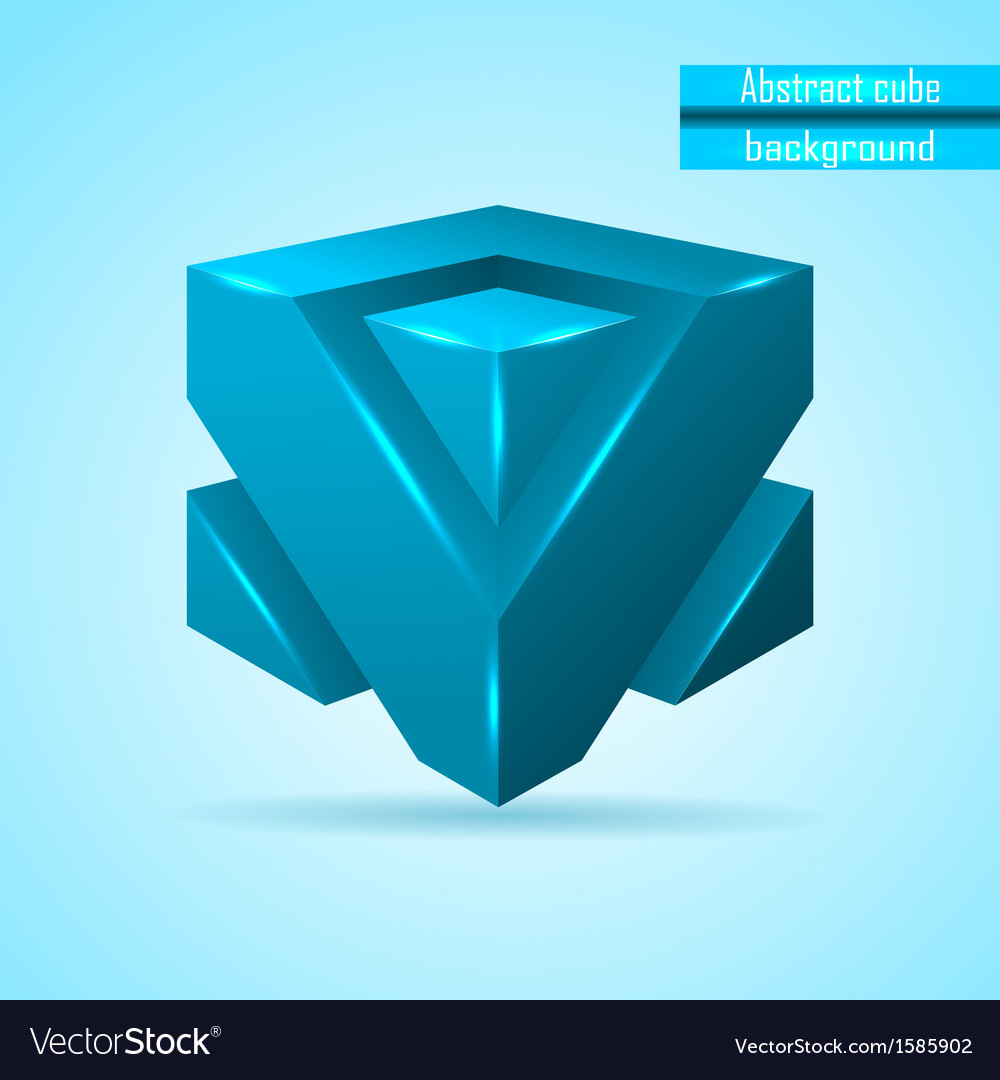 Abstract blue cube vector | Price: 1 Credit (USD $1)