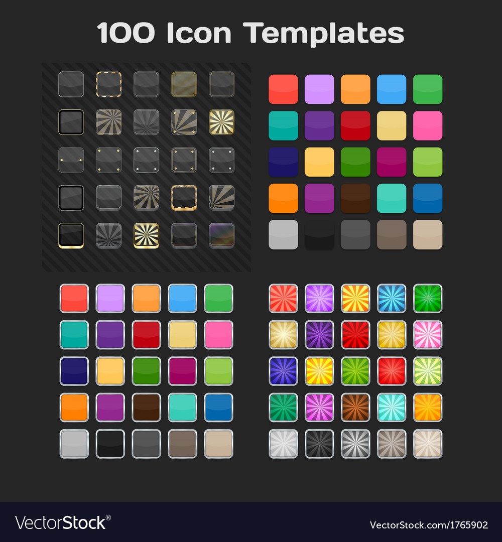 App icon templates set vector | Price: 1 Credit (USD $1)