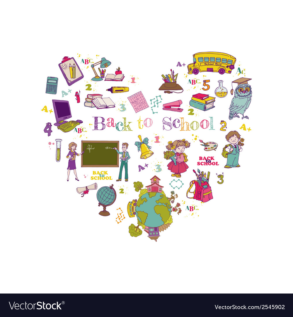Back to school set - for design and scrapbook vector   Price: 1 Credit (USD $1)