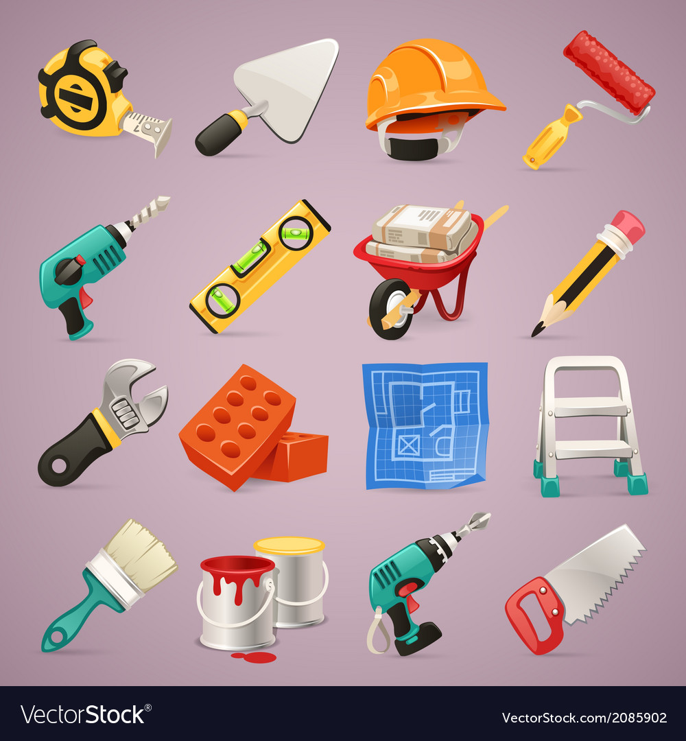 Construction icons set1 1 vector | Price: 1 Credit (USD $1)