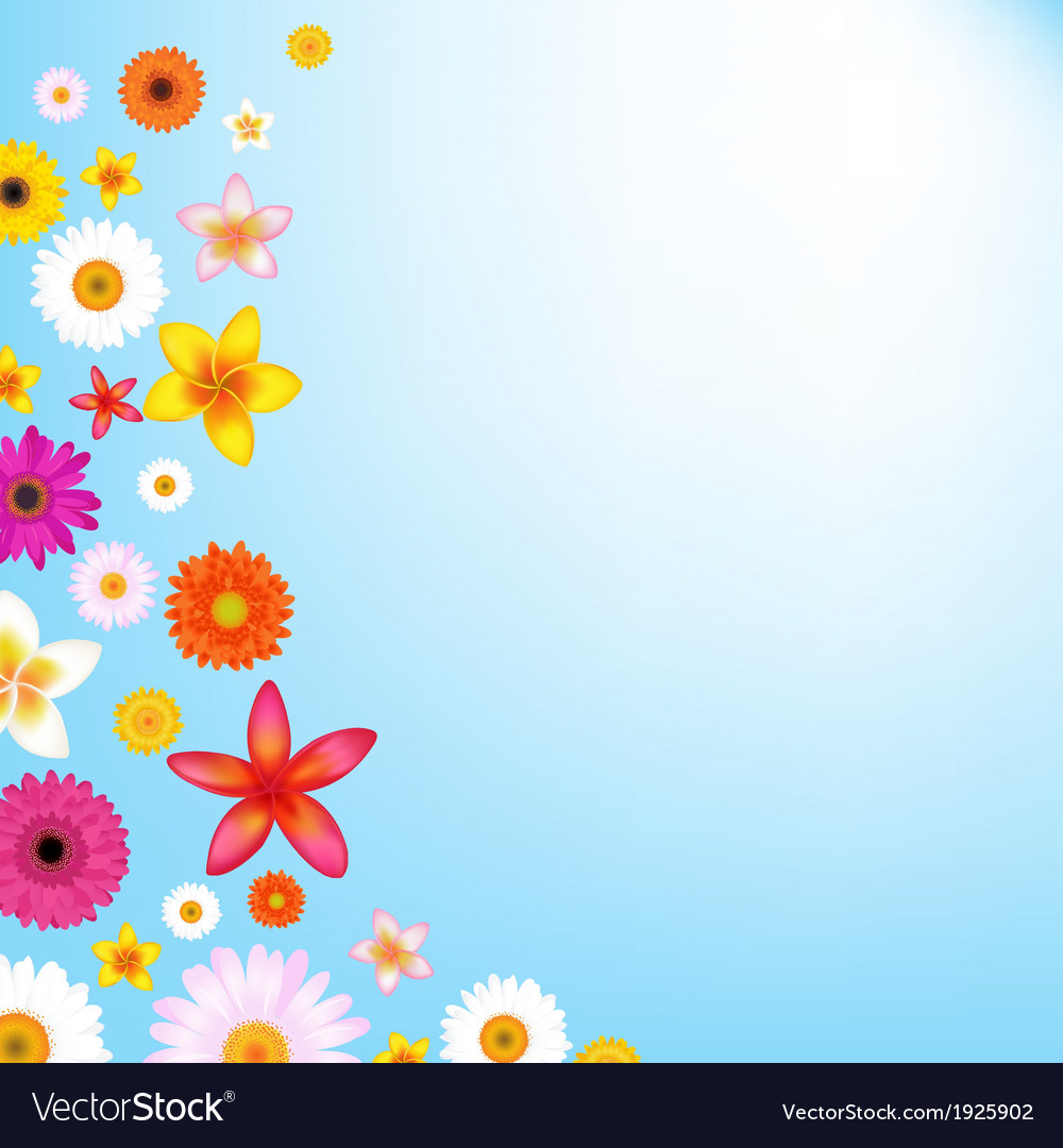 Flowers and sky vector | Price: 1 Credit (USD $1)