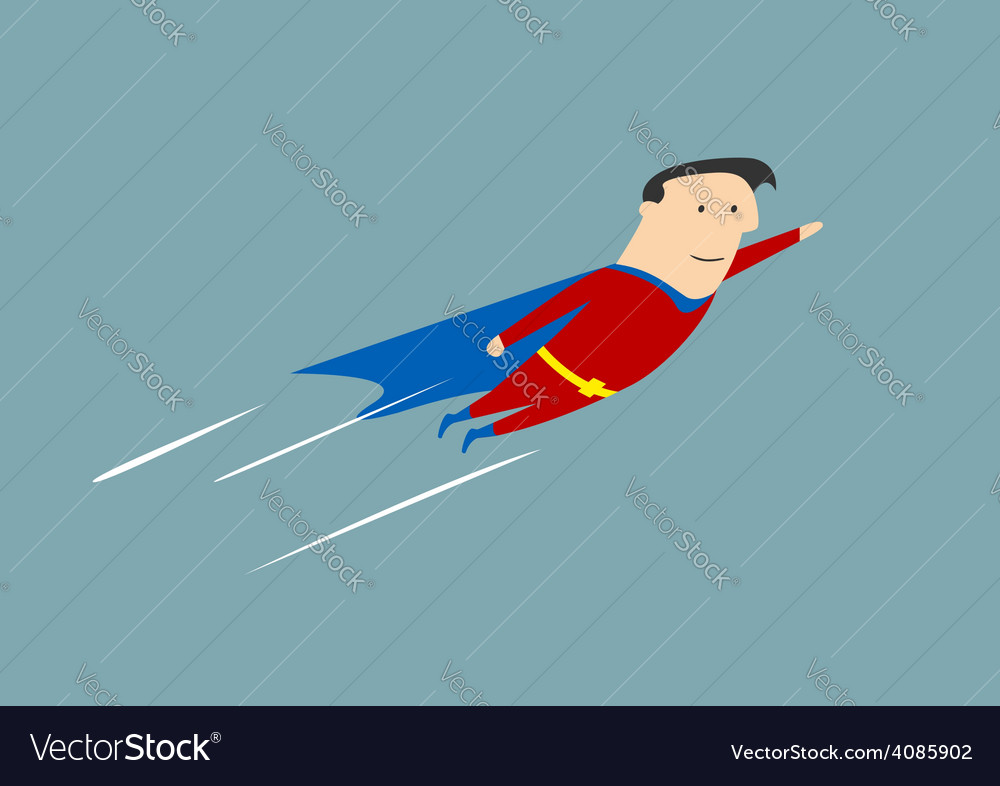 Flying businessman hero vector | Price: 1 Credit (USD $1)