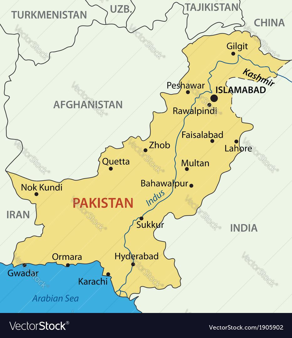 Islamic republic of pakistan - map vector   Price: 1 Credit (USD $1)