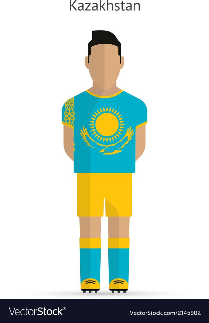 Kazakhstan football player soccer uniform vector | Price: 1 Credit (USD $1)