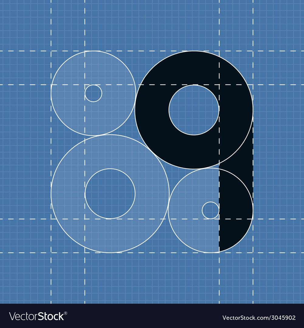 Round engineering font symbol q vector | Price: 1 Credit (USD $1)