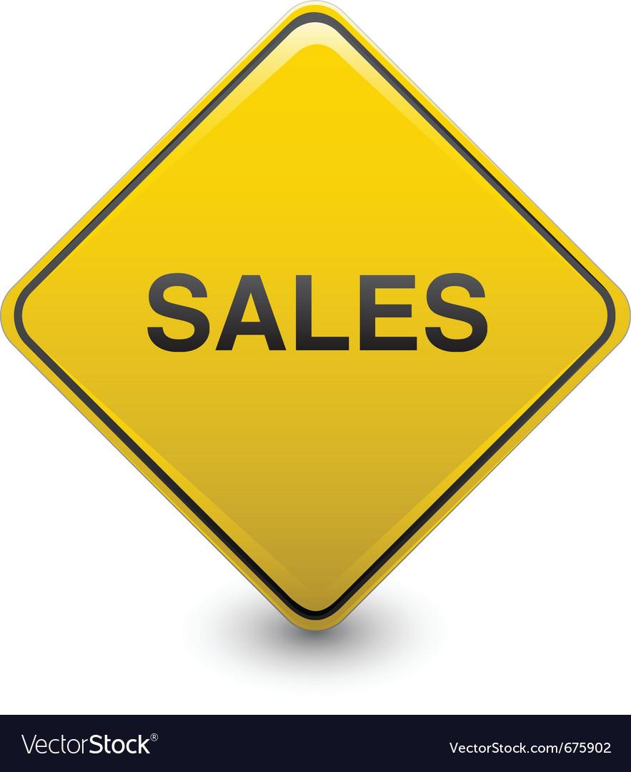 Sales warning vector | Price: 1 Credit (USD $1)