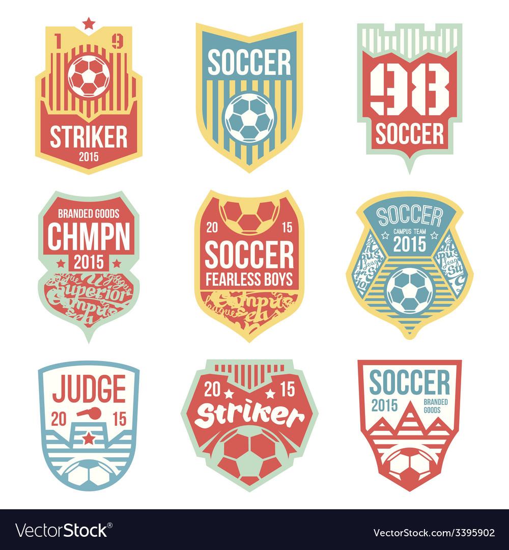 Soccer emblems vector | Price: 1 Credit (USD $1)