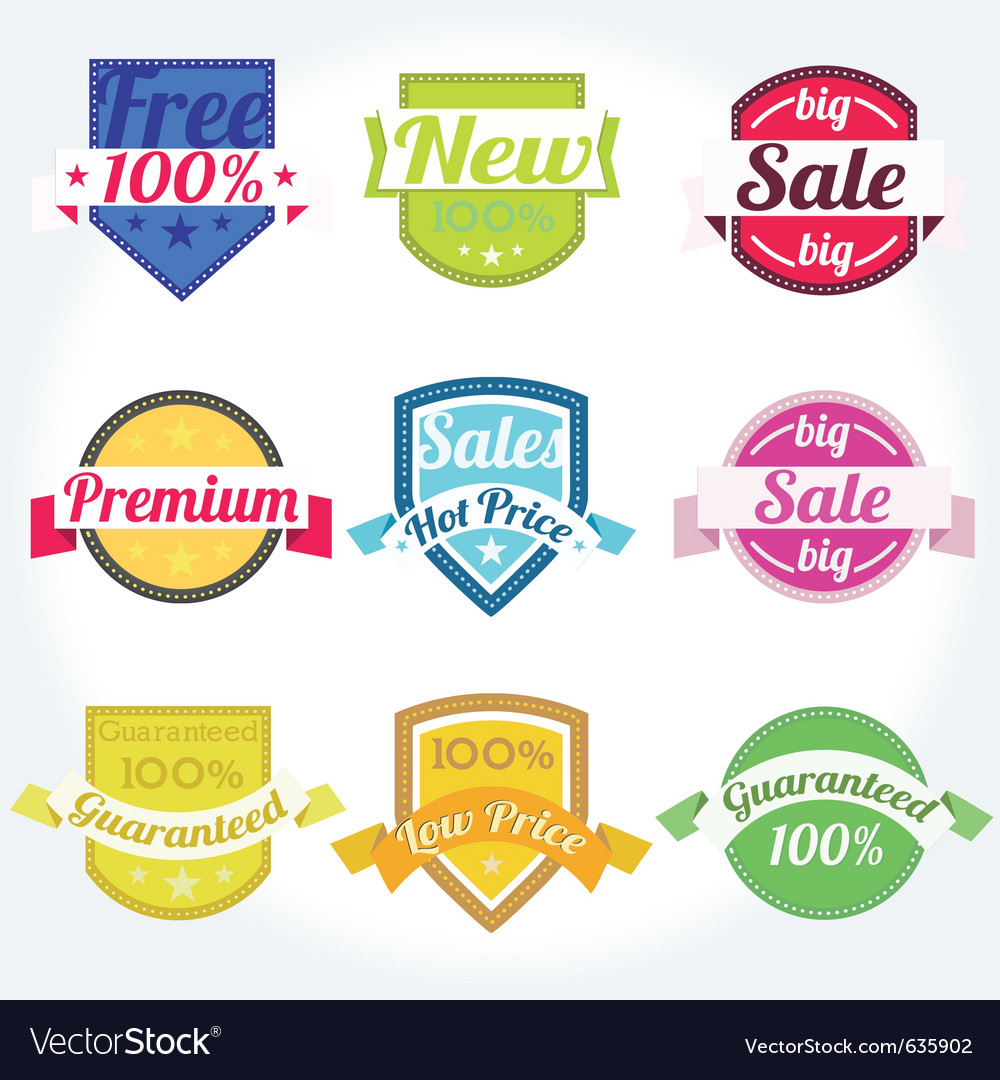 Spanish retro satisfaction labels vector | Price: 1 Credit (USD $1)