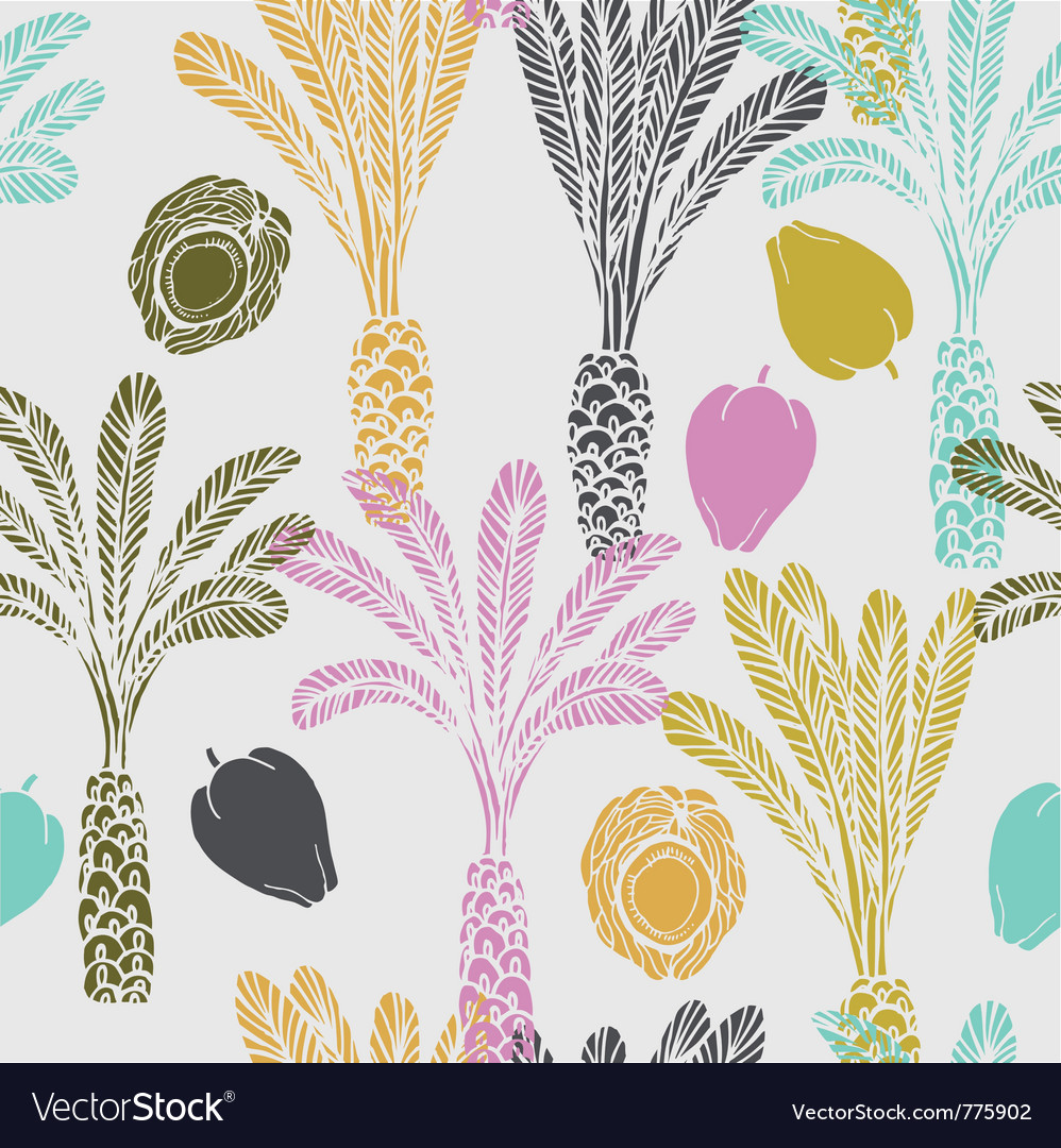 Tropical fruit drawing background vector | Price: 1 Credit (USD $1)