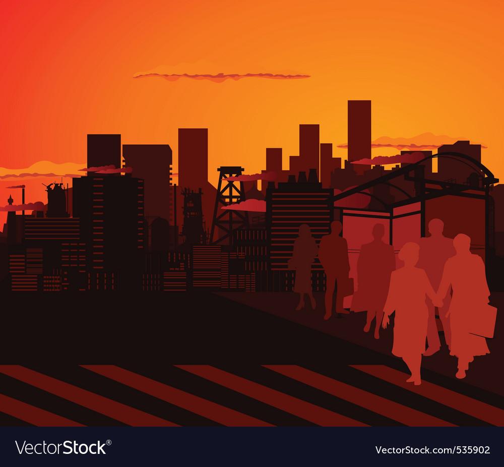 Urban city vector | Price: 1 Credit (USD $1)