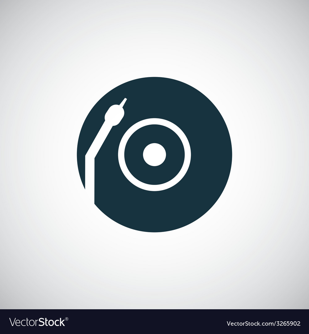 Vinyl turntable icon vector | Price: 1 Credit (USD $1)