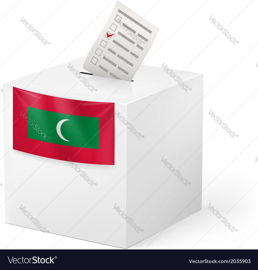 Ballot box with voting paper republic of the vector | Price: 1 Credit (USD $1)
