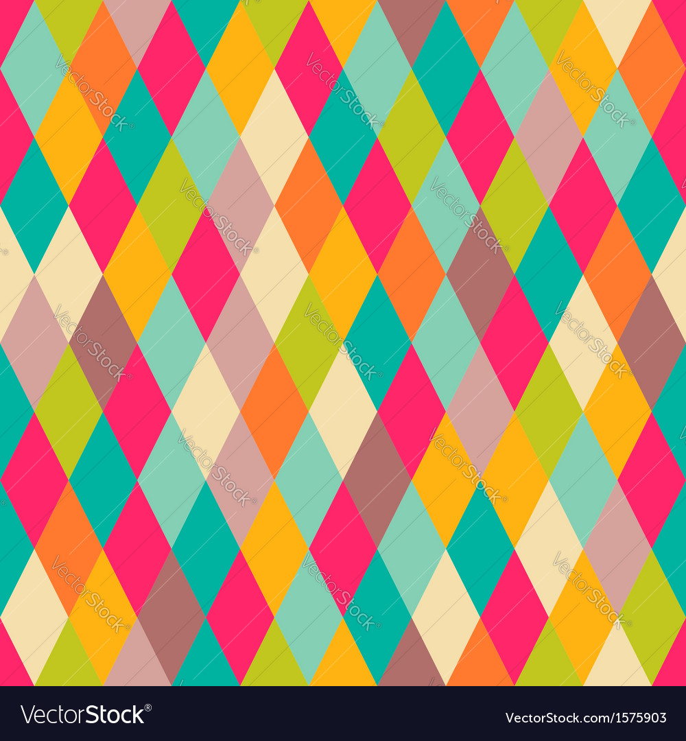 Diamonds seamless pattern vector | Price: 1 Credit (USD $1)