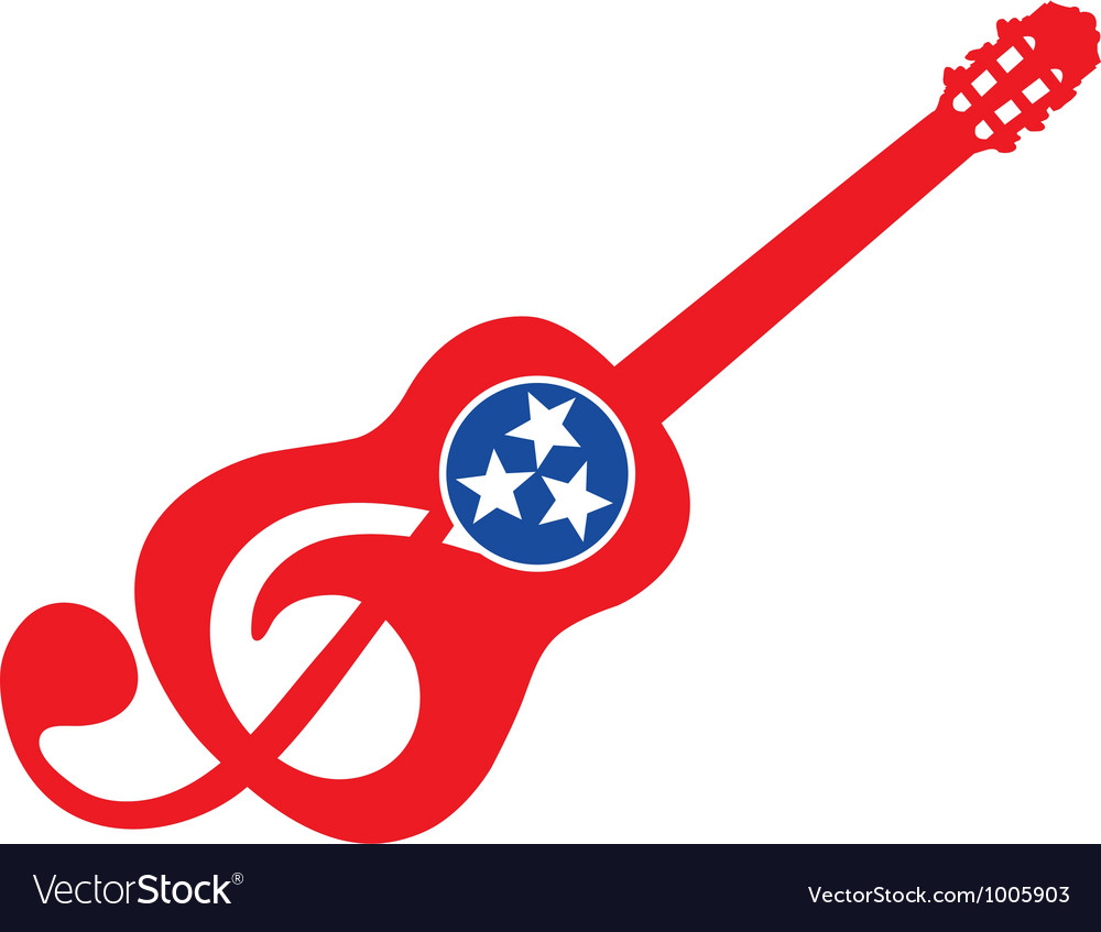 Guitar logo vector | Price: 1 Credit (USD $1)
