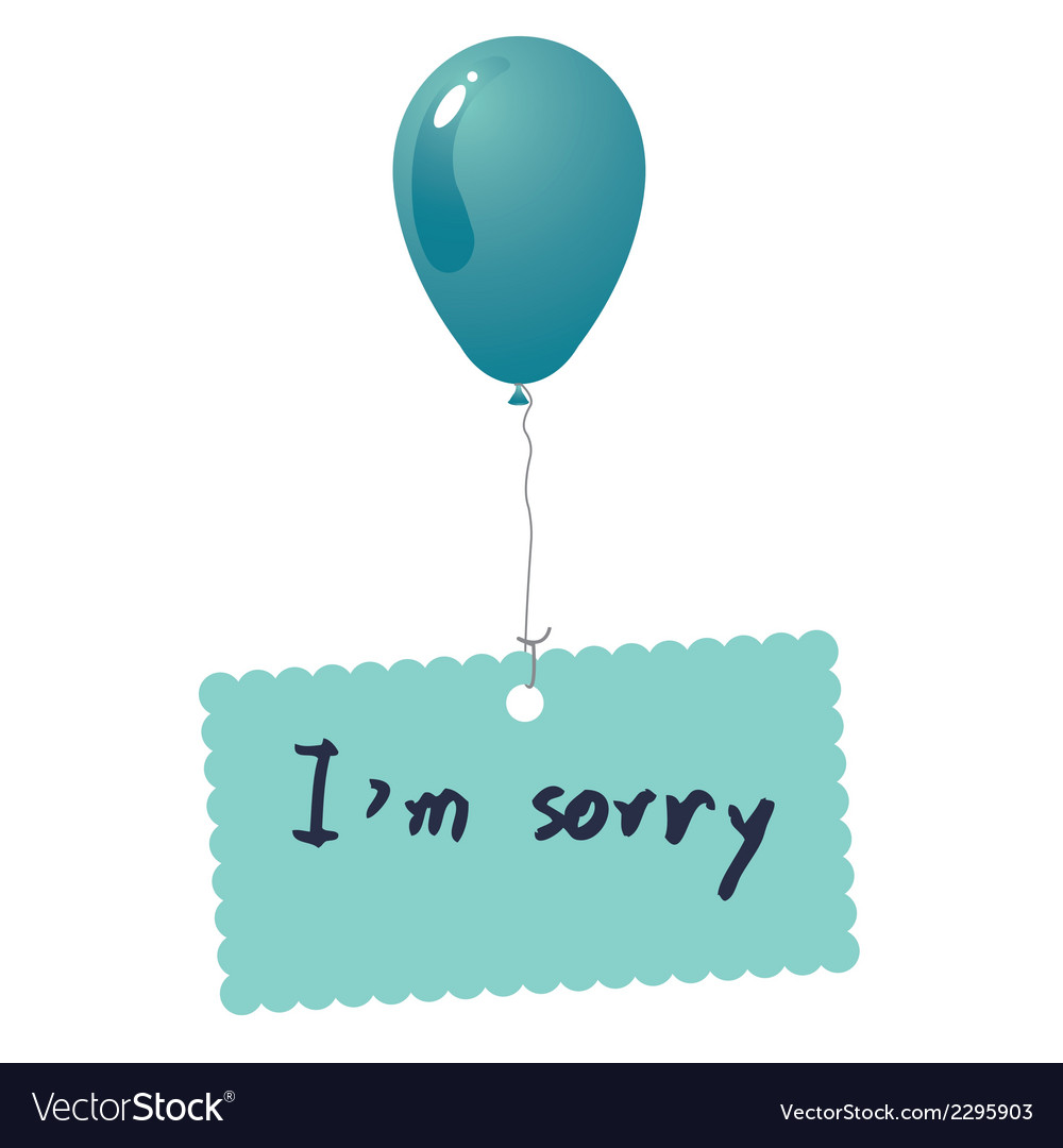 Im sorry card vector | Price: 1 Credit (USD $1)