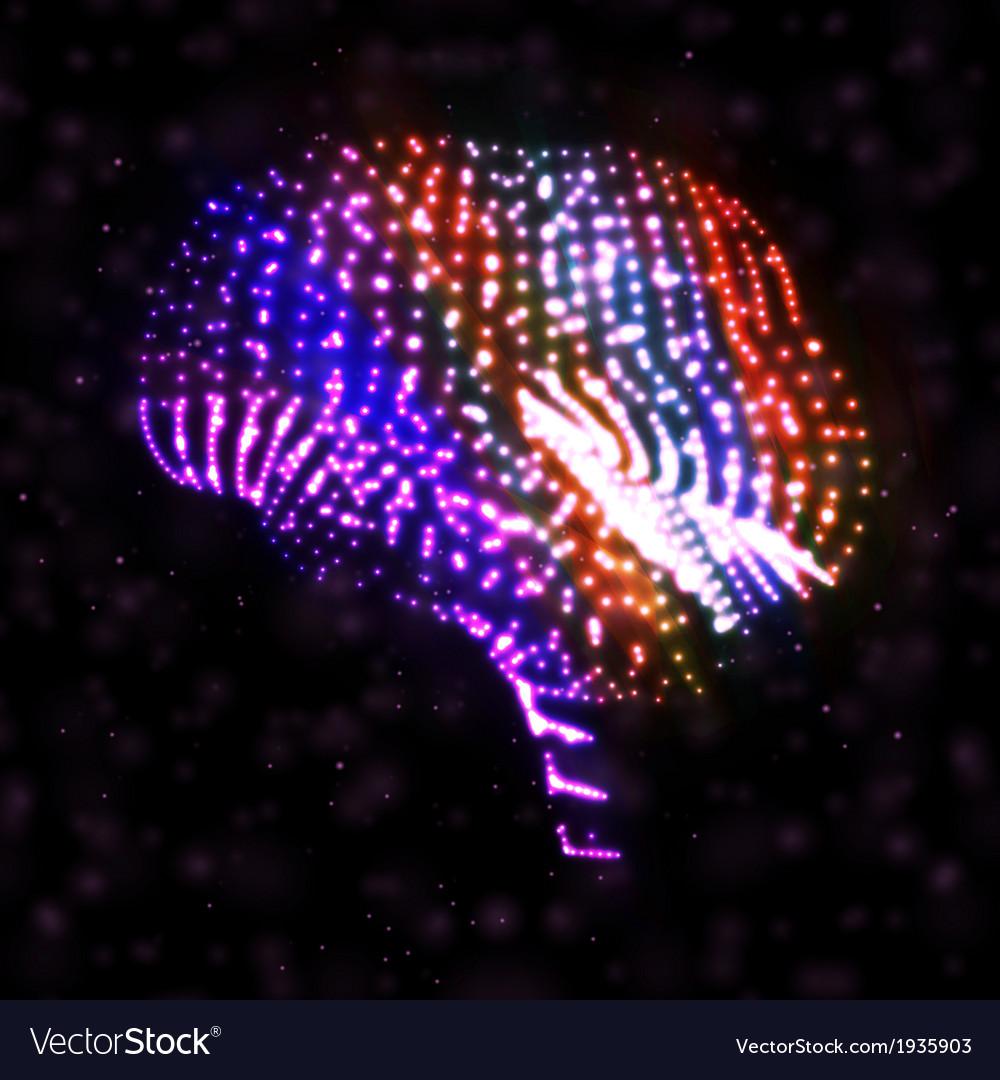 Neon brain vector | Price: 1 Credit (USD $1)