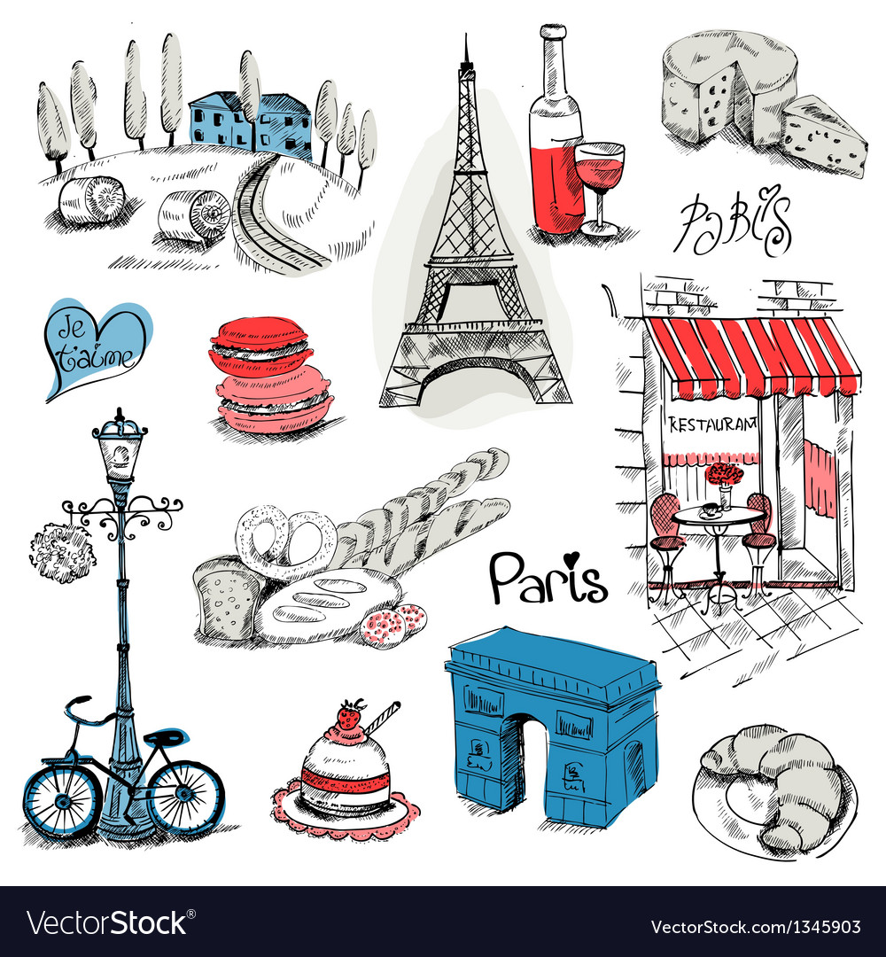 Paris set vector | Price: 3 Credit (USD $3)