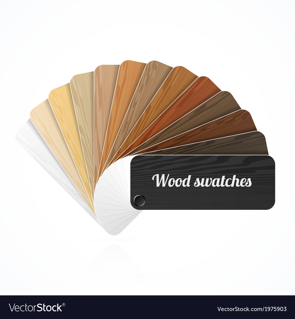 Wood color swatches guide samples fan vector | Price: 1 Credit (USD $1)
