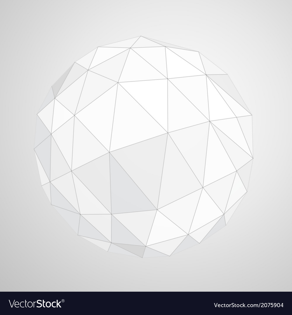 Abstract geometric paper origami sphere compositio vector | Price: 1 Credit (USD $1)