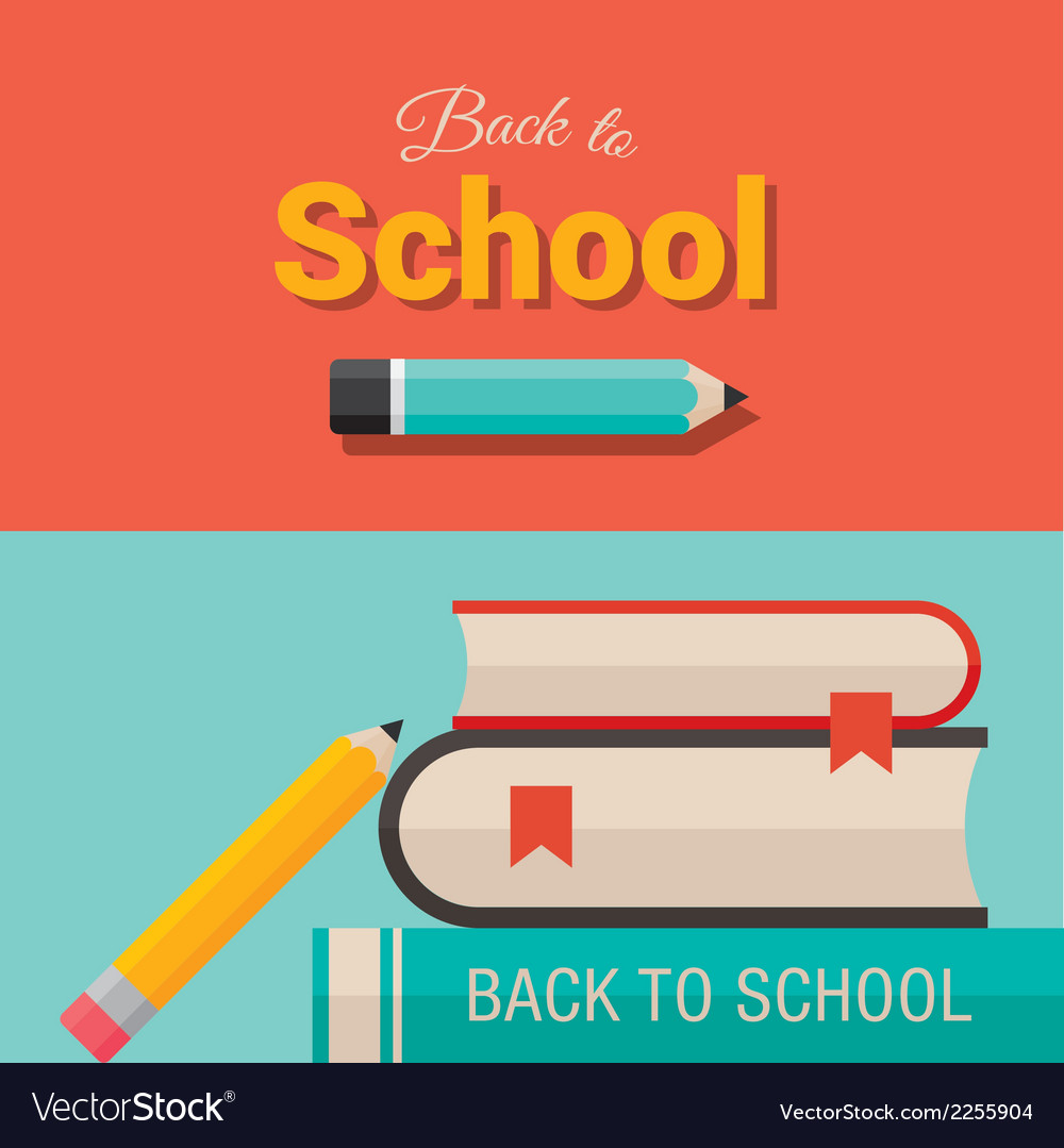 Back to school design element 01 vector | Price: 1 Credit (USD $1)