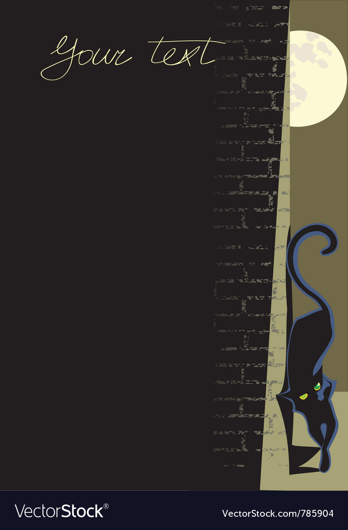 Black cat background vector | Price: 1 Credit (USD $1)
