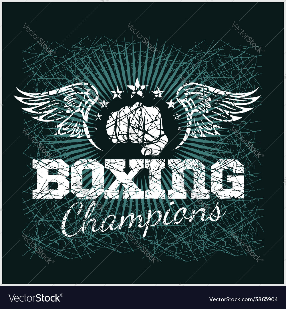 Boxing champion - vintage artwork for t vector | Price: 3 Credit (USD $3)