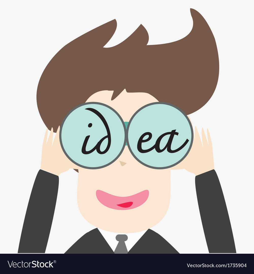 Business man looking idea vector | Price: 1 Credit (USD $1)