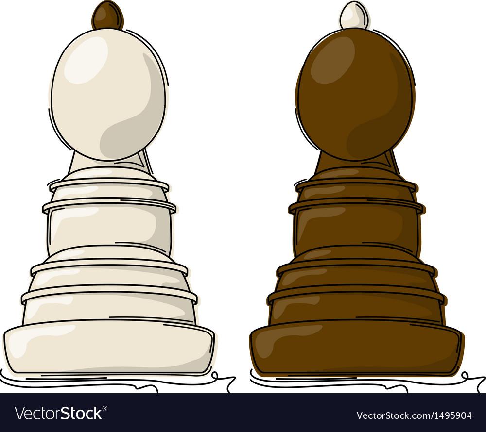 Chess bishop vector | Price: 1 Credit (USD $1)