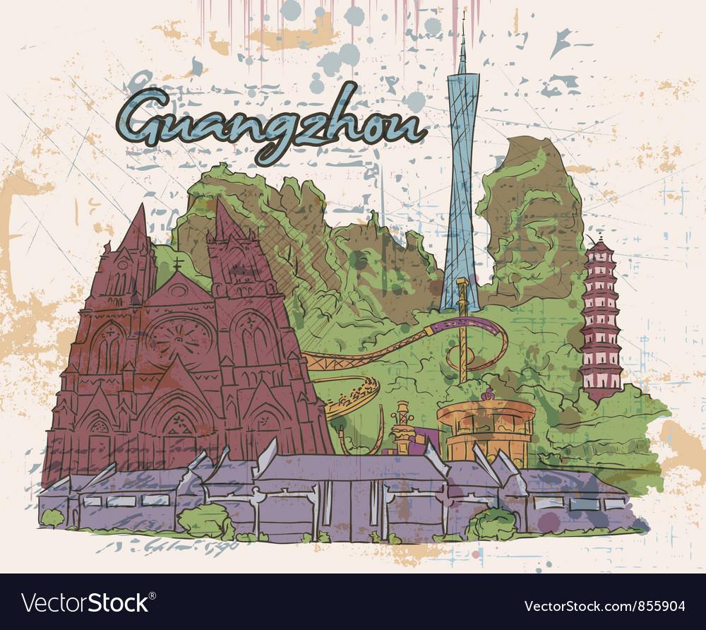 Guangzhou doodles vector | Price: 3 Credit (USD $3)
