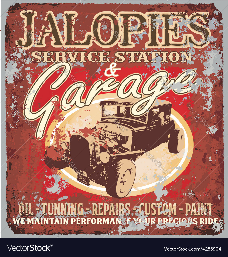 Jalopy garage vector