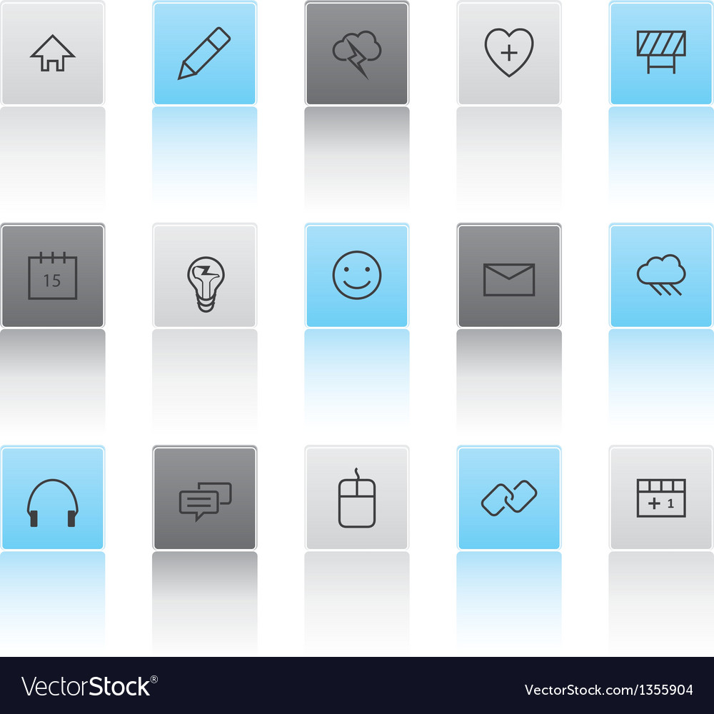 Light and dark web icons vector | Price: 1 Credit (USD $1)