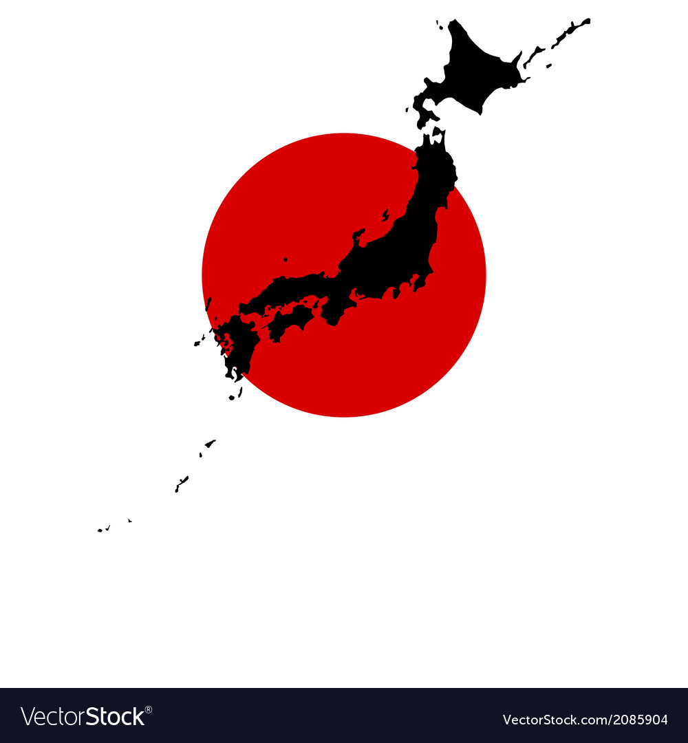 Map and flag of japan vector | Price: 1 Credit (USD $1)
