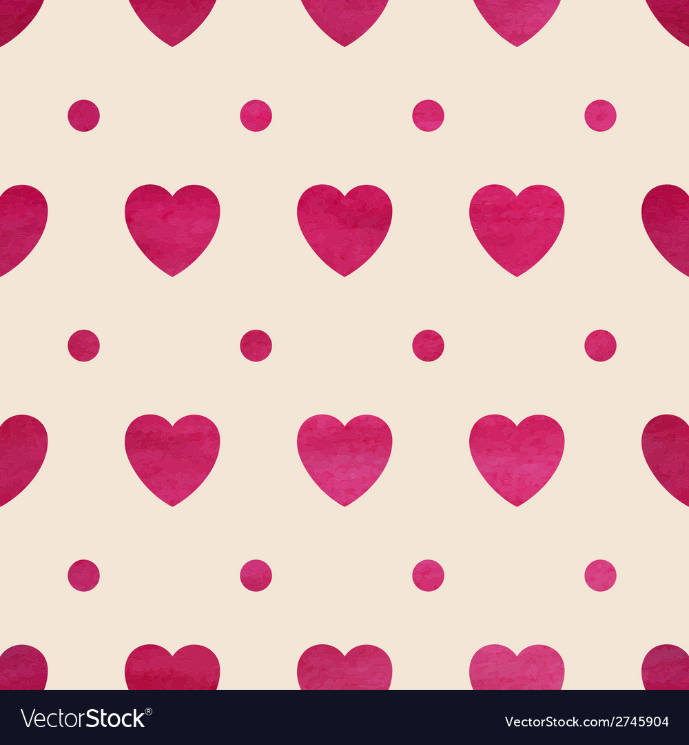 Seamless heart background vector | Price: 1 Credit (USD $1)