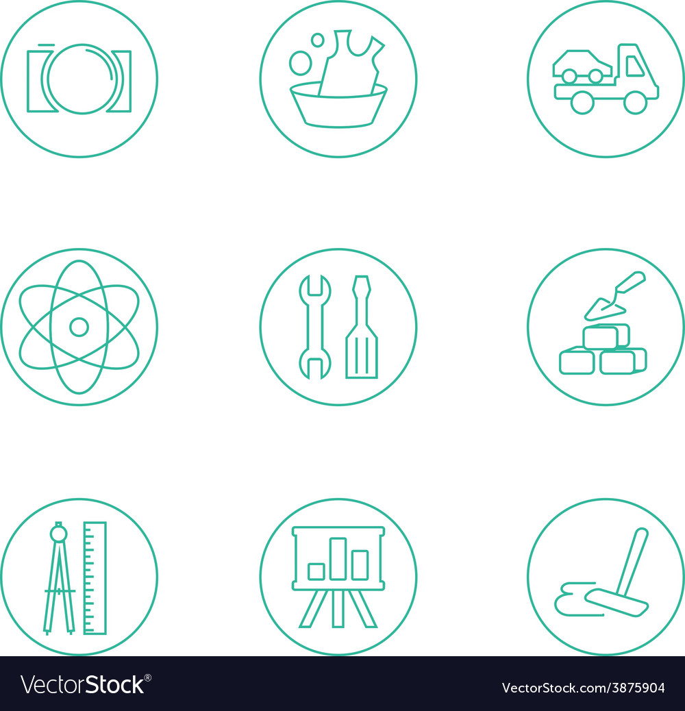 Symbols of office working at the computer light vector   Price: 1 Credit (USD $1)