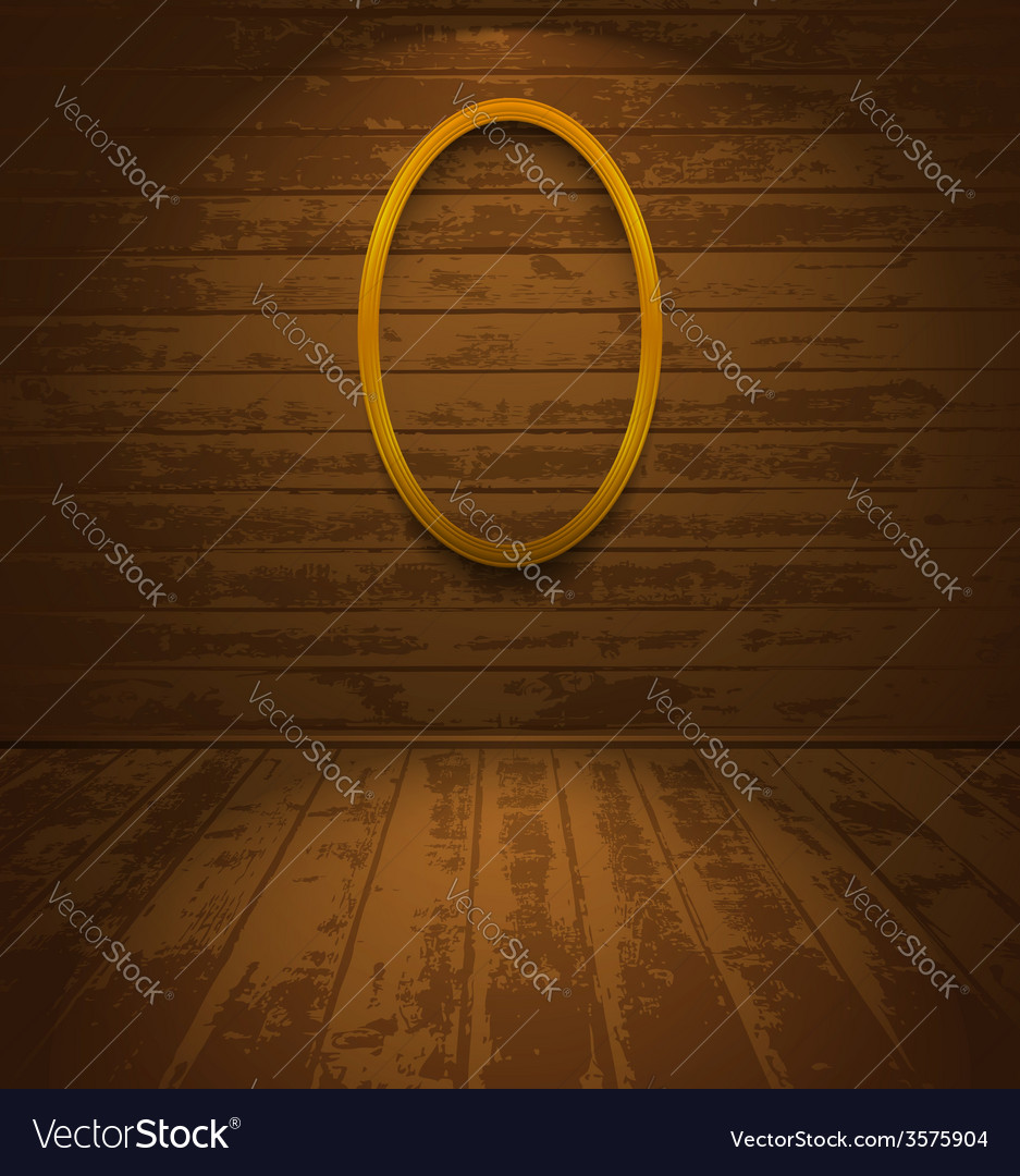 Wooden room with elliptic frame vector | Price: 1 Credit (USD $1)