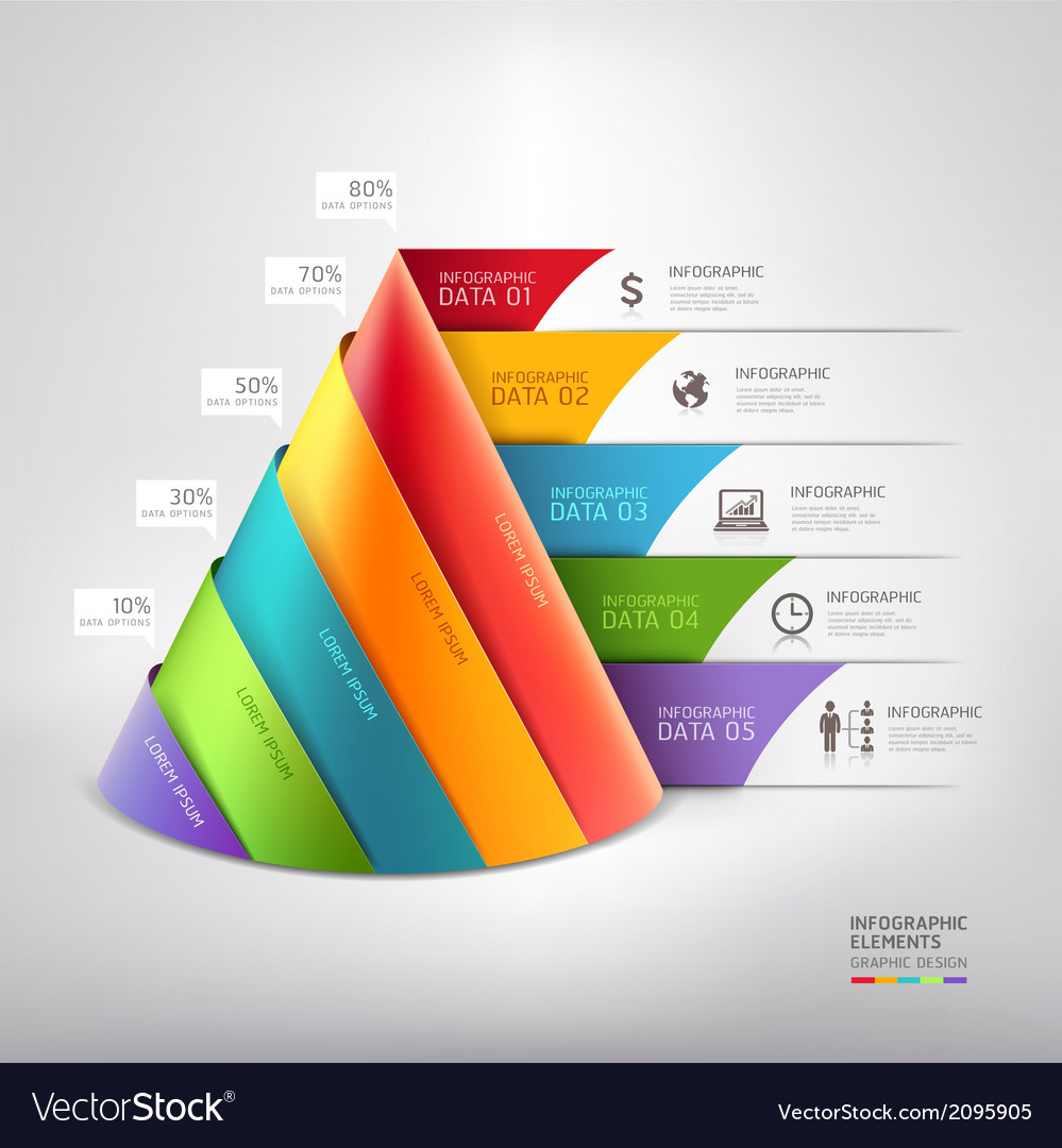 3d cone business infographics diagram vector   Price: 1 Credit (USD $1)
