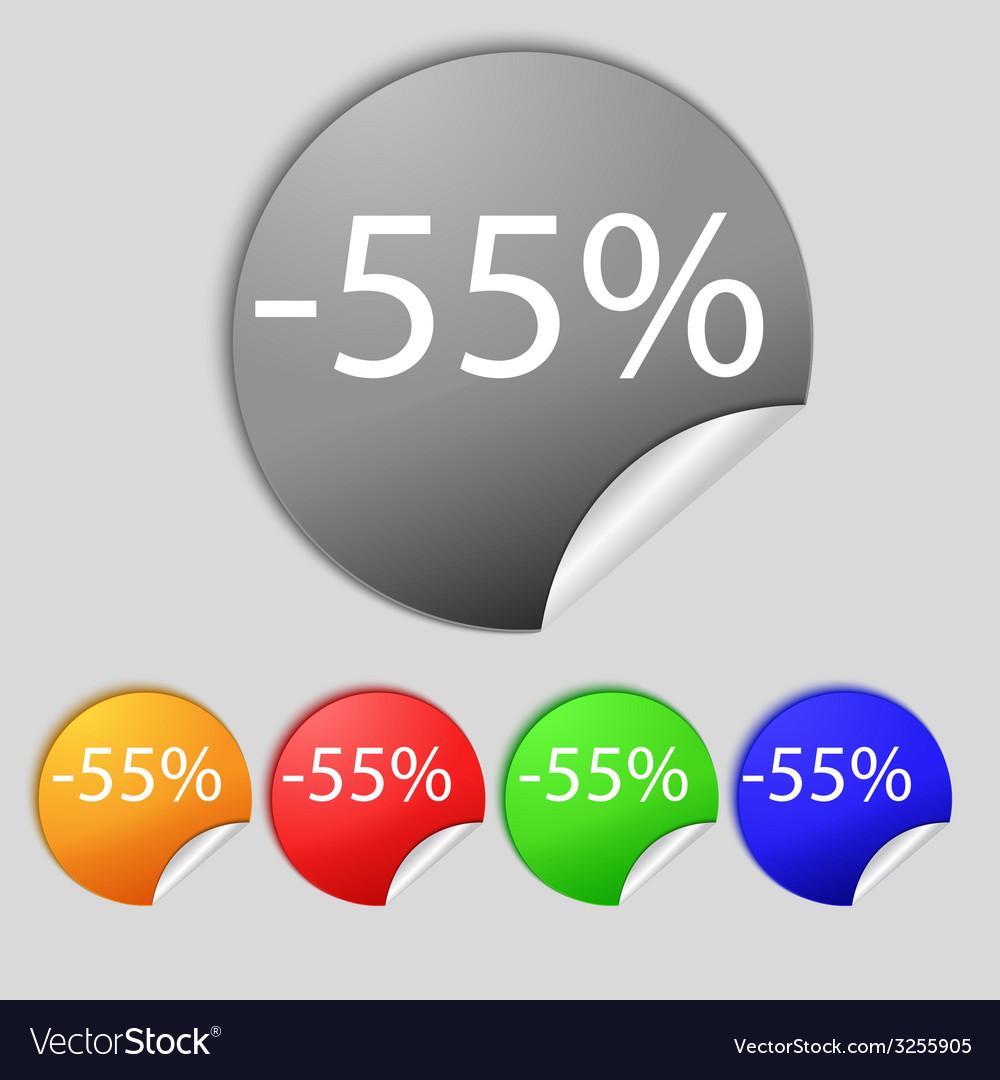 55 percent discount sign icon sale symbol special vector   Price: 1 Credit (USD $1)
