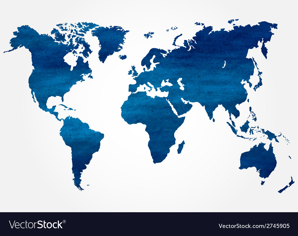 Abstract background with map of the world vector | Price: 1 Credit (USD $1)