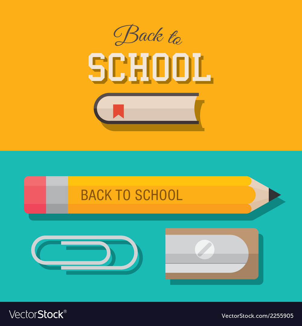 Back to school design element 02 vector | Price: 1 Credit (USD $1)