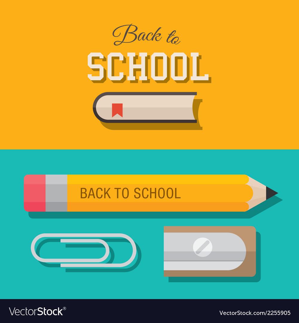 Back to school design element 02 vector | Price: 1 Credit (USD $1)