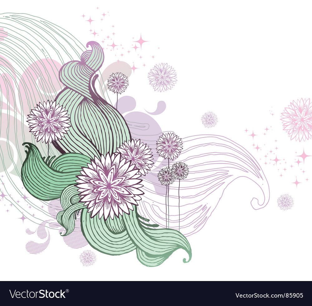 Hand drawn floral illustration vector | Price: 1 Credit (USD $1)